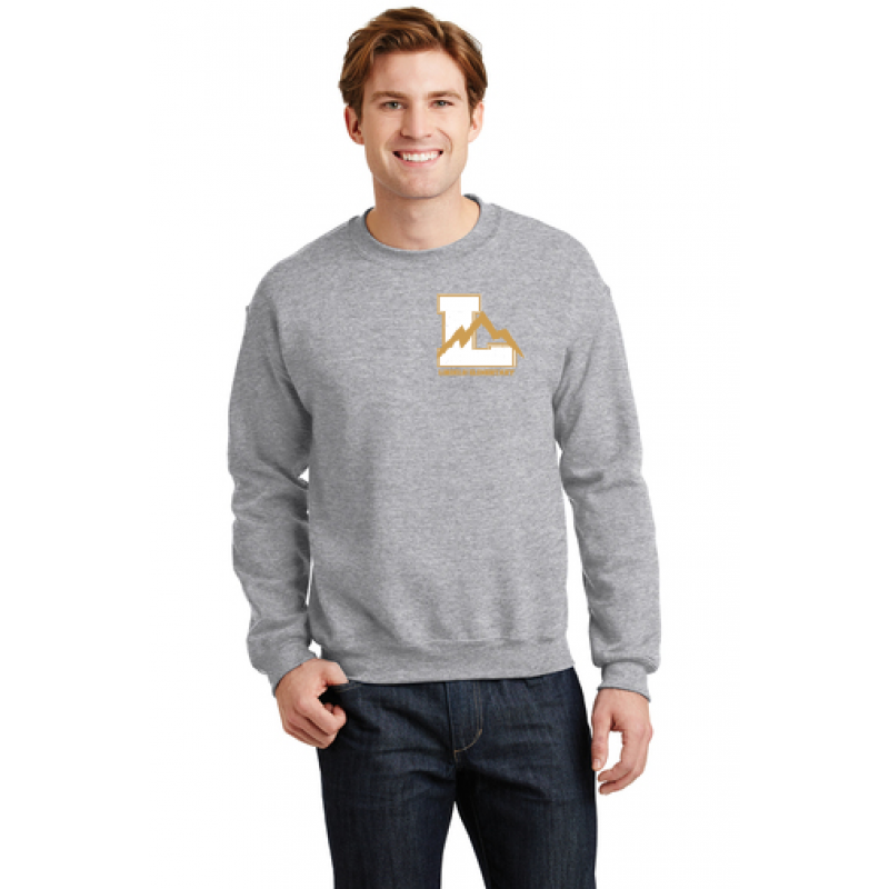 Lincoln Heavy Blend™ Crewneck Sweatshirt. Embr Left Chest Logo