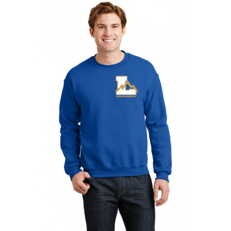 Lincoln Heavy Blend™ Crewneck Sweatshirt. Embr Left Chest Logo