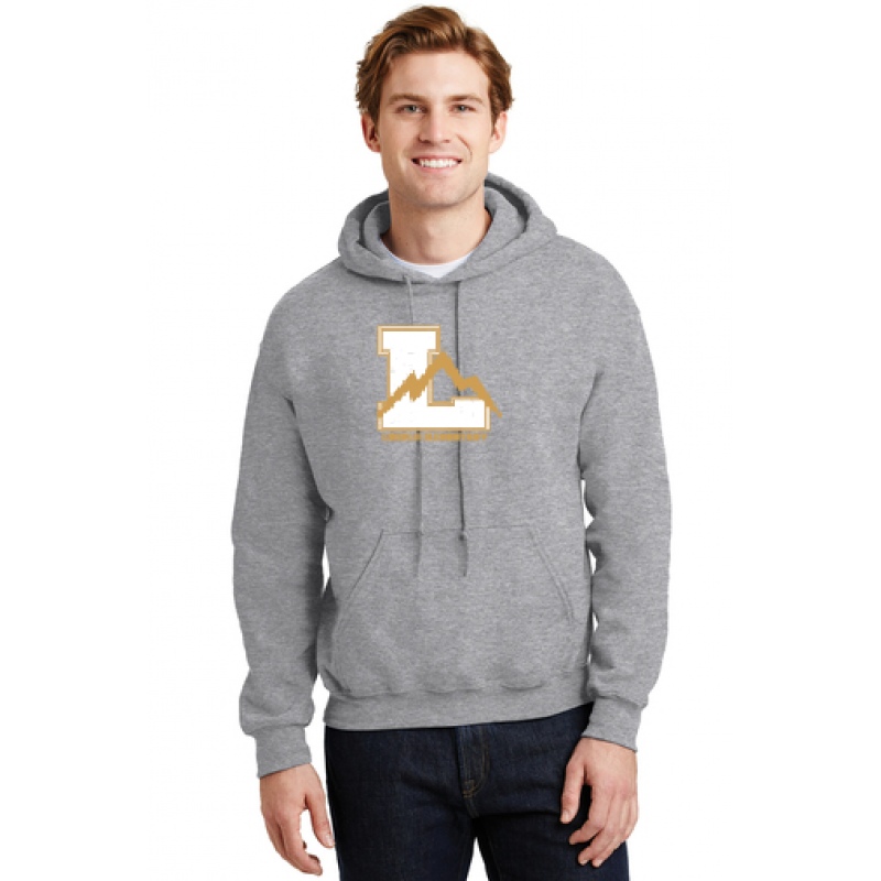 Lincoln Heavy Blend™ Hooded Sweatshirt, Full Front Logo