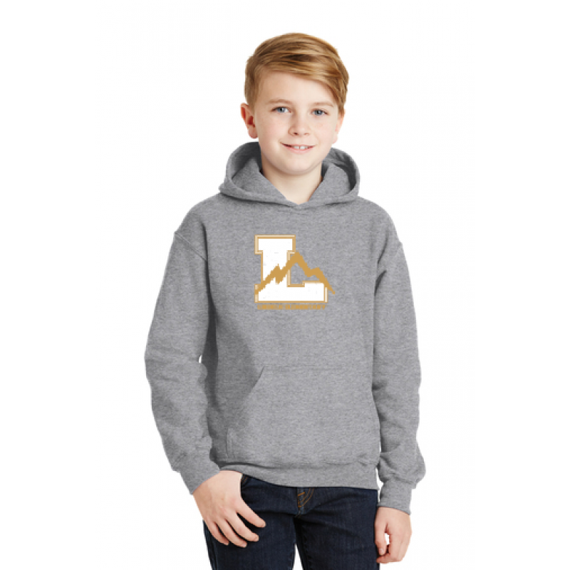 Lincoln Youth Heavy Blend™ Hooded Sweatshirt, Sm Front Logo