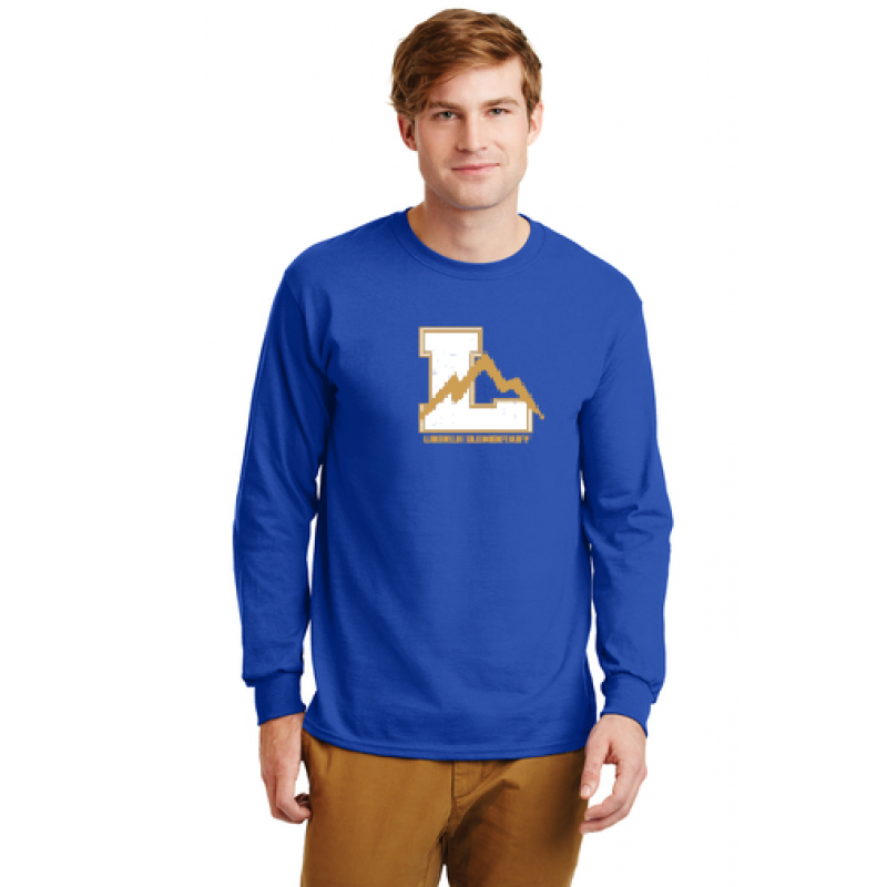 linclon Full Front Adult Long Sleeve Core Cotton Tee