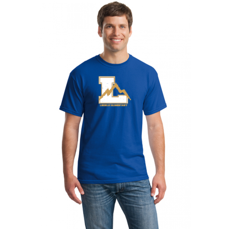 Lincoln Full Front Adult Short Sleeve Core Cotton Tee