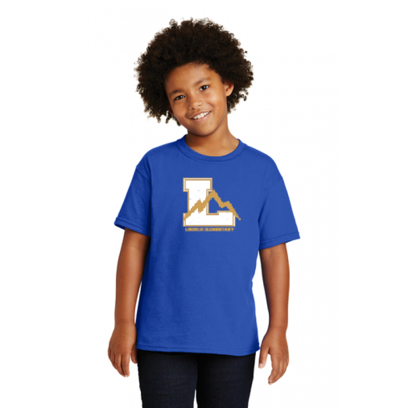 Lincoln Full Front Youth Short Sleeve Core Cotton Tee