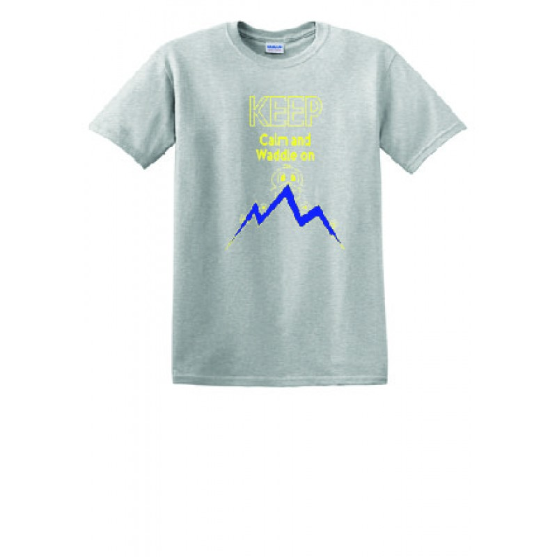 Lincoln Full Front Youth Short Sleeve Core Cotton Tee, Ash Grey Duck